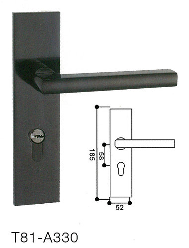 Mortise Handle Lock T81-A330 BK 1155