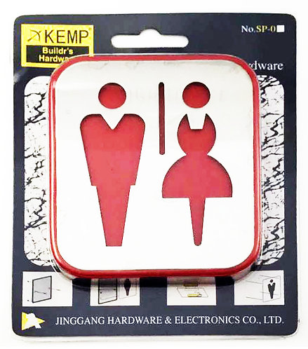 Sign Plate Male & Female SP05 SS 1111