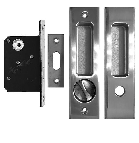 Sliding Door Lockset BK M01 Bath with Coinslot 45mm SN 1109