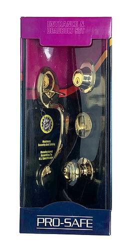 Entrance & Deadbolt Set HB143-505-AS PB 3331