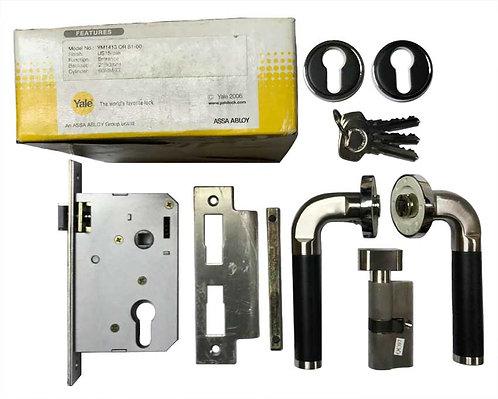 Lever HandleSet YM1413 OR 81-60 SN/BK 1163