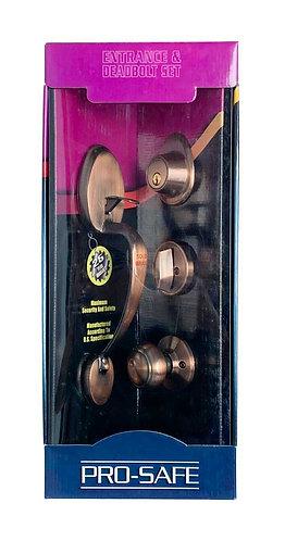 Entrance & Deadbolt Set HB143-616-AS AC 3331