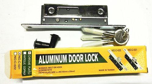 Aluminium Door Lock C-021 155mm x 20mm SN 1110