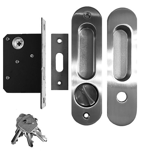 Sliding Door Lockset ET M06 Entrance with Key 45mm SN 1109