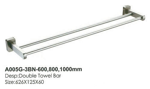 Bathroom Double Towel Bar A005G-3BN-600 BN 0115