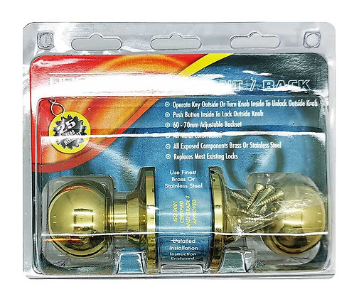P Cylindrical Knobset CA300-605-AS 60mm PB 2102