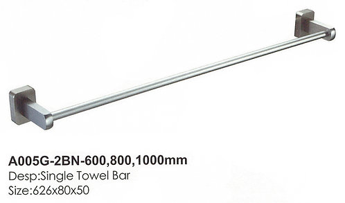 Bathroom SingleTowel Bar A005G-2BN-600 BN 0115