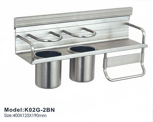 Kitchen Utensil Holder K02G-2BN BN 0114
