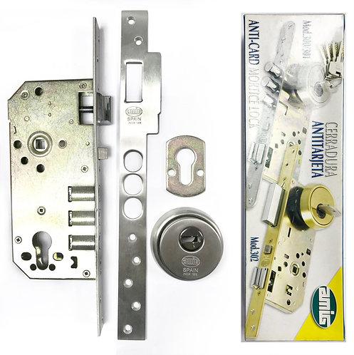 Anti-Card Art No 7486 Mortice Lockcase 310 SS 0335