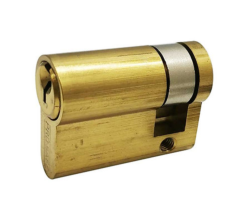 Brass Euro Cylinder Half w/o Thumbturn 24104-042-605 PB 3315