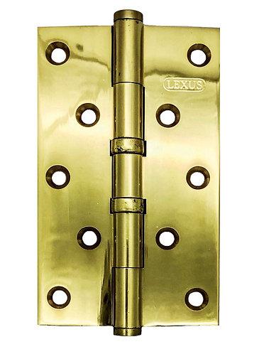 """Brass Hinges 2BB 5"""" x 3"""" x 3mm PB 0170"""