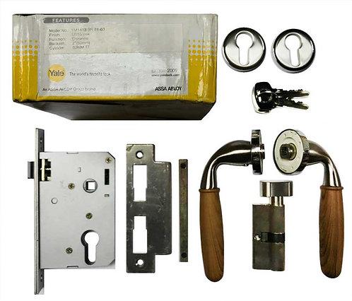 Lever HandleSet YM1413 SR 81-63 SN/OAK 1163