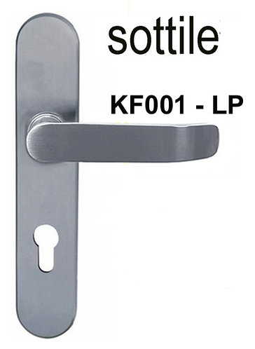Lever Handle on Plate Stainless Steel KF001 LP SN 1337