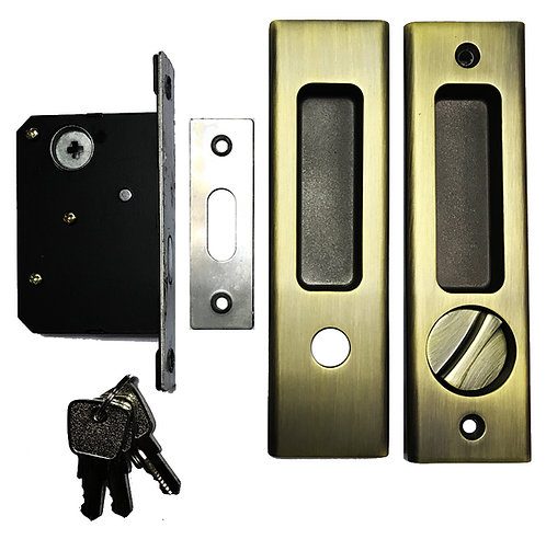 Sliding Door Lockset ET M01 Entrance with Key 45mm AB 1109