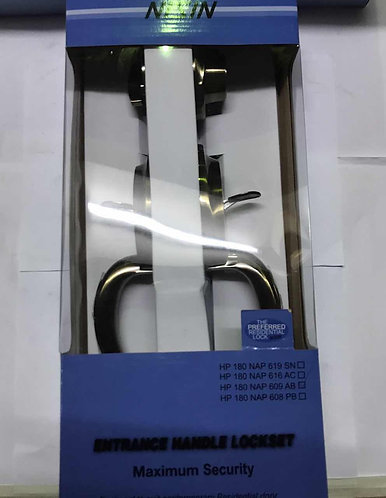N Entrance Handle Lockset HP180 NAP 609 AB 2102