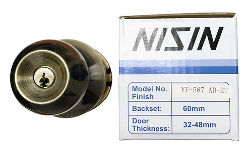 N Cylindrical Lockset 587 ET AB 1112