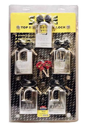 L3001 Brass Top Security Padlock 60 6pcs SS 0114