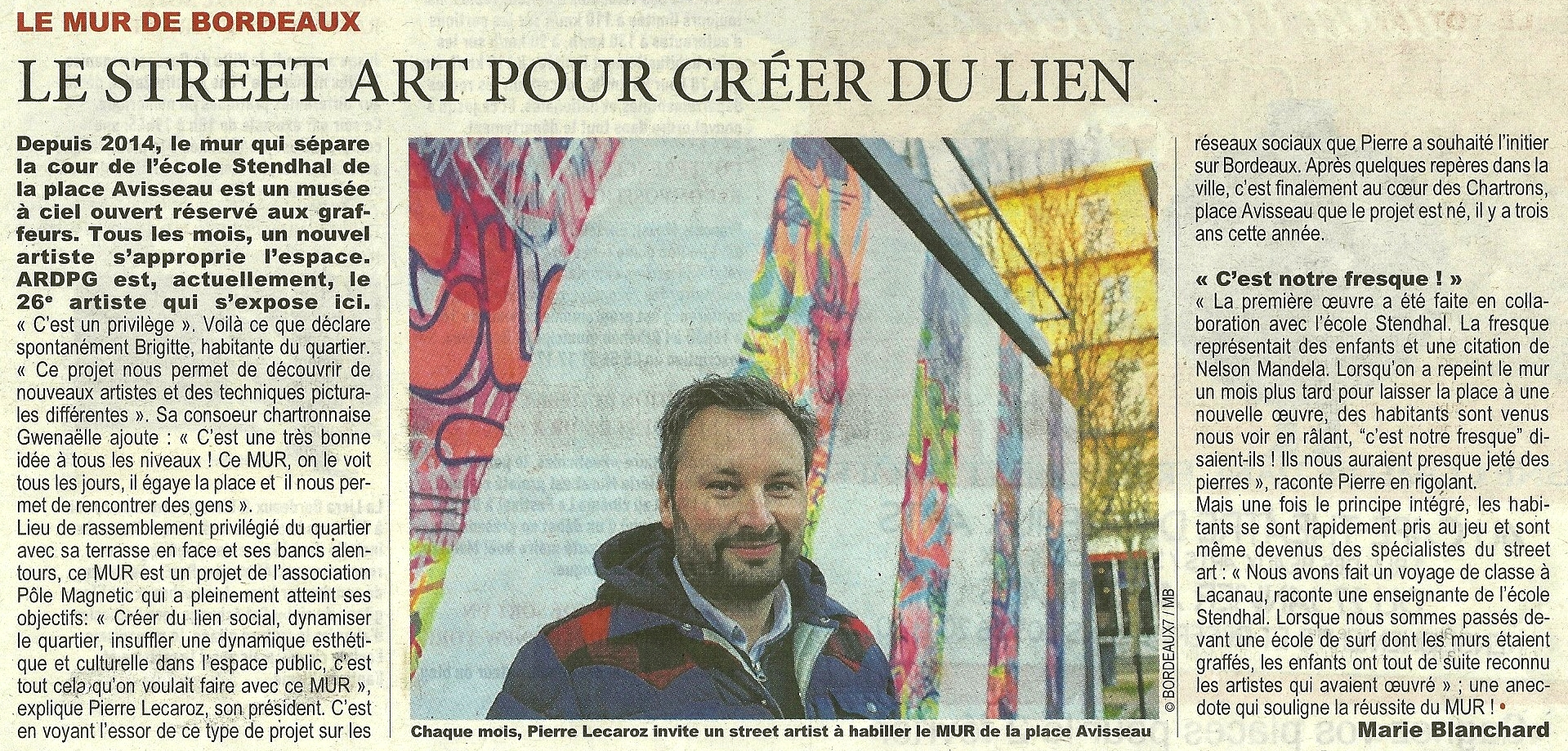 Article paru dans Direct Matin le 26-01-2017