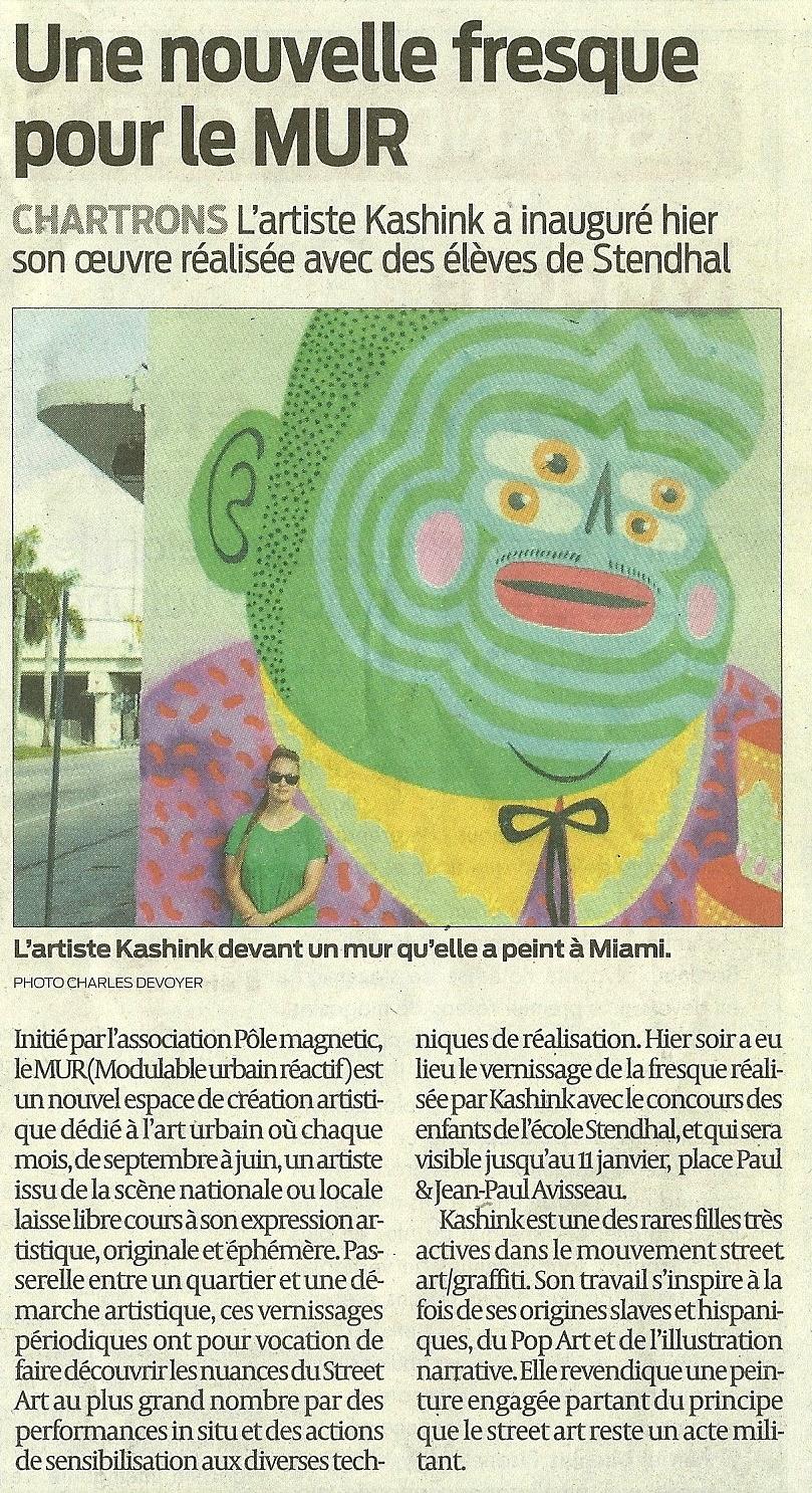 KASHINK   Article paru dans le Sud-Ouest du   20-12-2014
