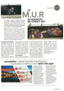 Article paru dans le magazine Bordeaux Madame 2019