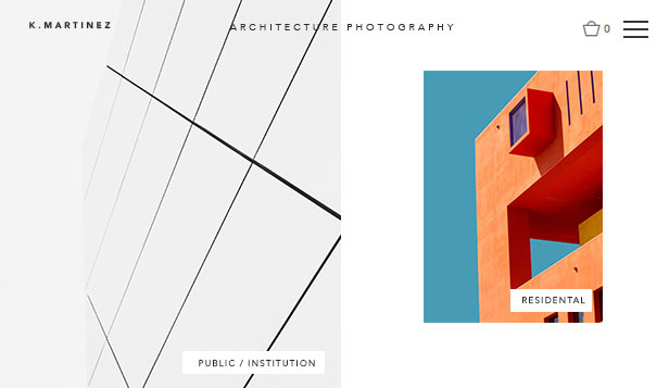 Fotografie website templates – Fotografie architektury