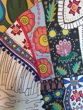 Zalipie Hippy Detail 2