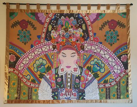 Zalipie Hippy Tapestry