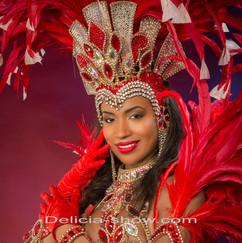 Danseuse brésil thème moulin rouge