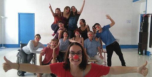 Clown lyon - Clown Chantal Poullain Lyon stage écoles de théâtre stages