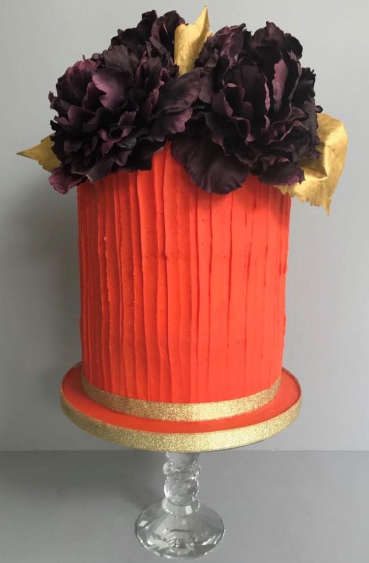 Flower and Buttercream Cake