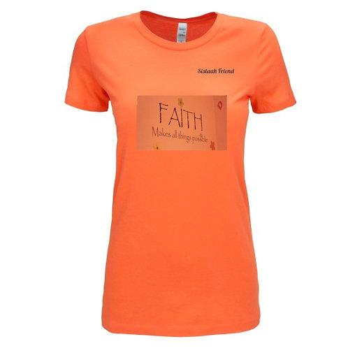 Orange T-Shirt with Faith logo