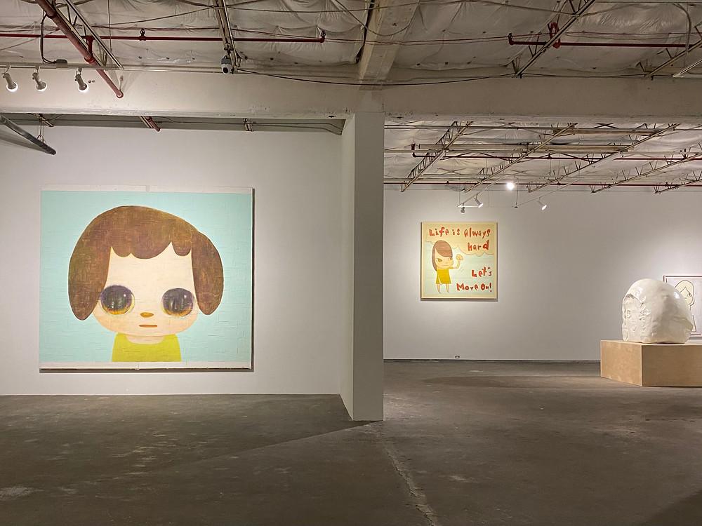 Interior of Dallas Contemporary with Yoshimoto Nara art