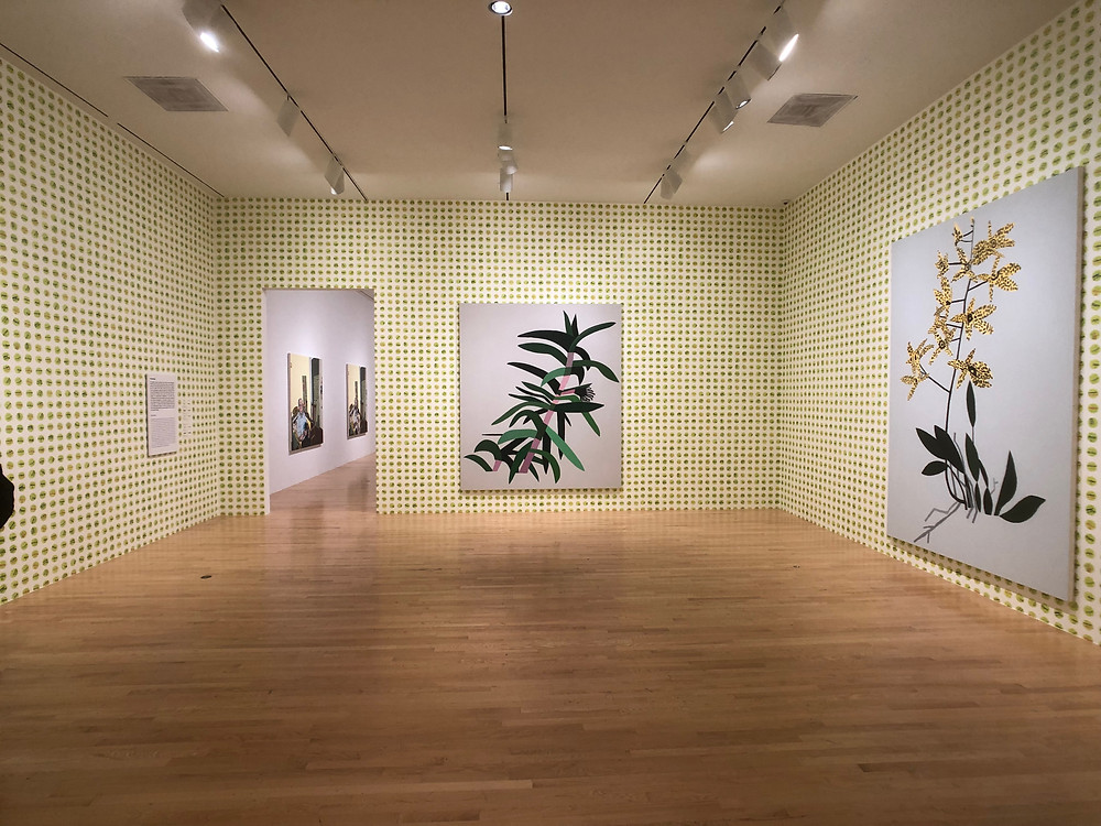 Paintings and Custom Wallpaper by Jonas Wood at the DMA