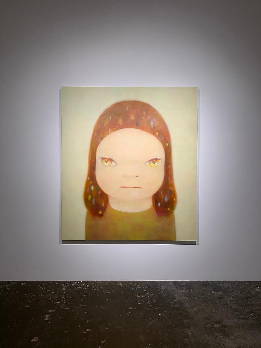 large painting of a girl by yoshimoto nara