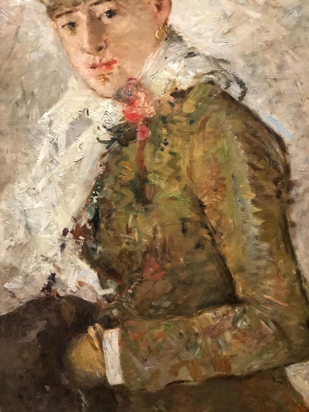 Winter by Berthe Morisot, Figure in Green jacket 1889
