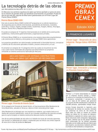 3 Primeros lugares del Premio Obras Cemex