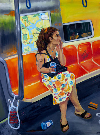Yasmine on Subway