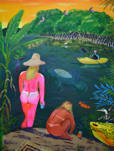 The Bathers and the Kayakers