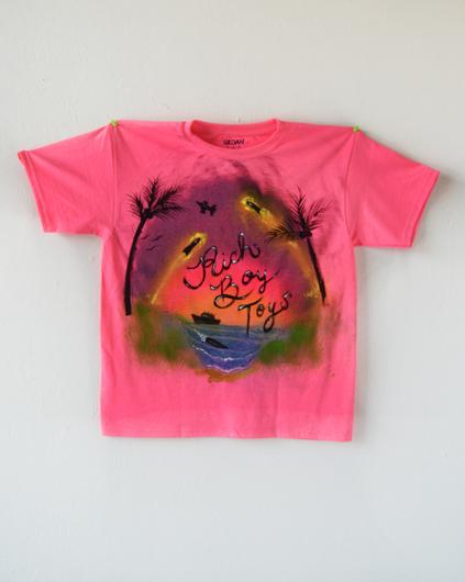 Rich Boy Toys, paint on T-shirt