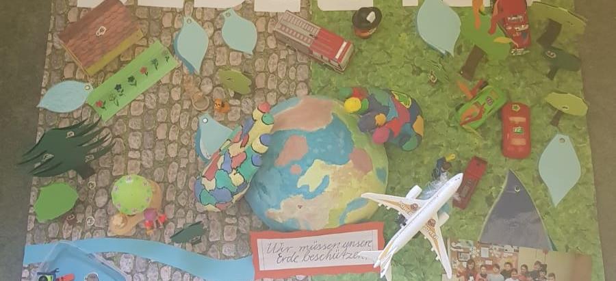 Grundschüler basteln Exponate für den Tag des Wassers 2019