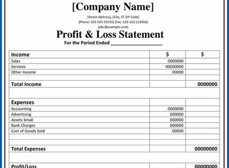 Profit and loss account: how to read and analyze