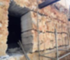 Demolicao parede concreto
