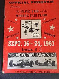 Trenton Speedway Program September 1967