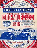 Trenton Speedway Program NASCAR