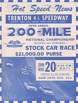 Vintage Trenton Speedway Flyer