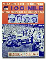 Trenton Speedway Flyer from April 1964