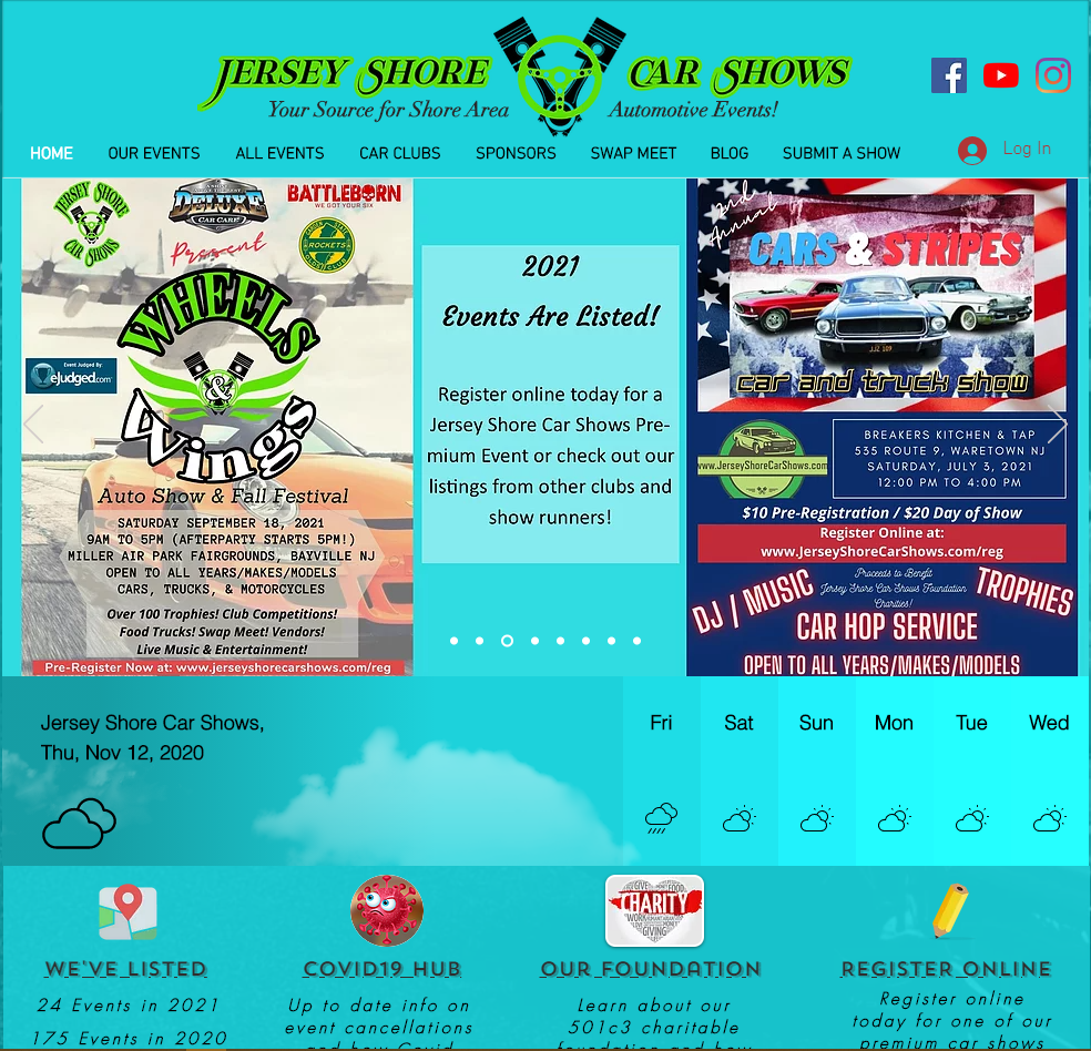 Jersey Shore Car Shows Website
