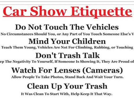 Car Show Code of Conduct