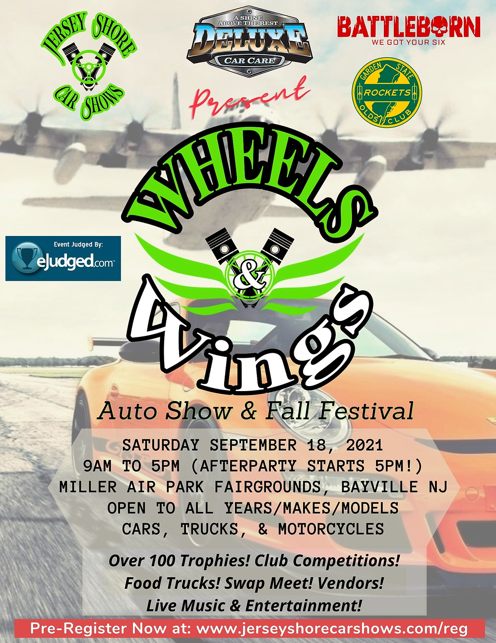 Wheels and Wings Car Show Flyer