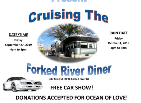 Join Us for Cruising the Forked River Diner on 9/27/19